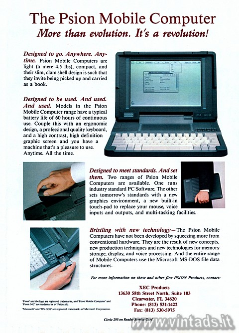 The Psion Mobile Computer 