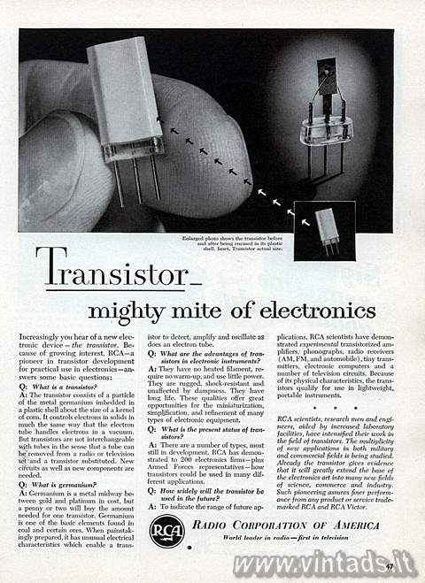 Transistor – mighty mite of electronics