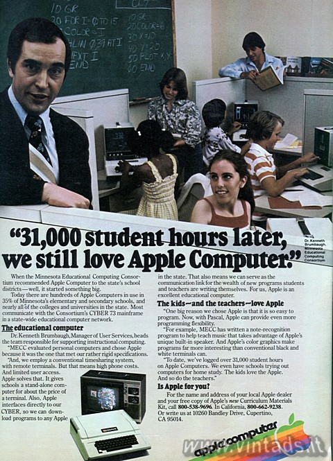 """31,000 student hours later, we still love Apple Computer""