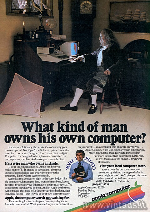 What kind of man owns his own computer?