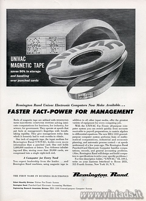 UNIVAC MAGNETIC TAPE