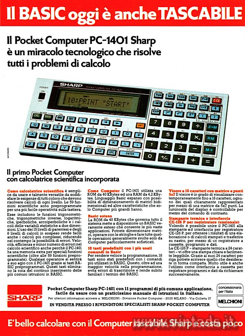 Il BASIC oggi è anche TASCABILE