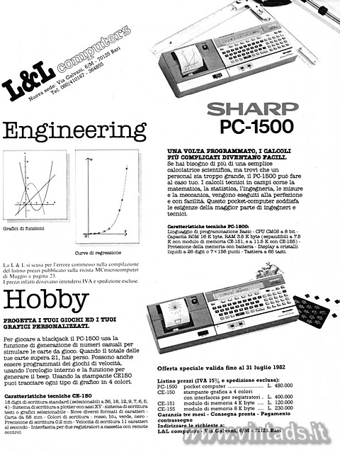 Sharp PC-1500