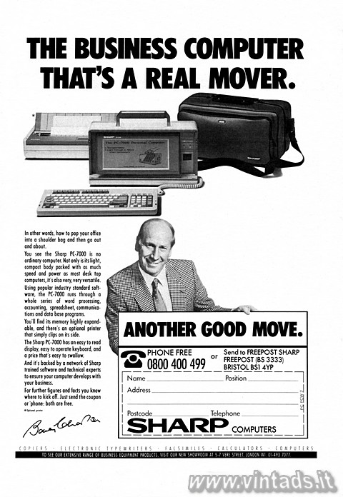 THE BUSINESS COMPUTER THAT'S A REAL MOVER.