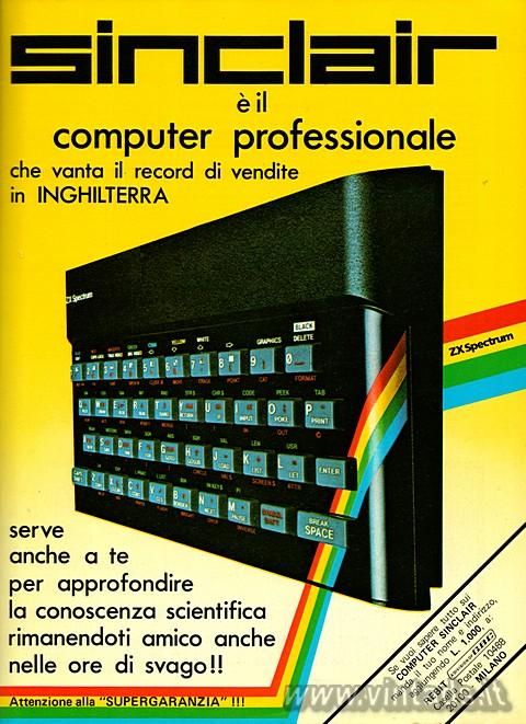 Sinclair è il computer professionale