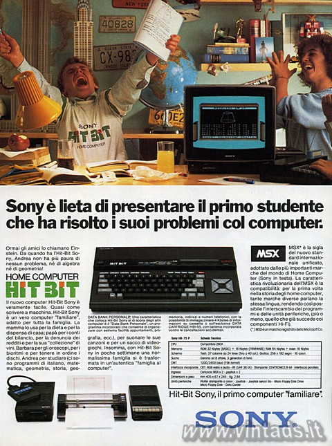 """Hit-Bit Sony. Il primo computer """"familiare"""""""