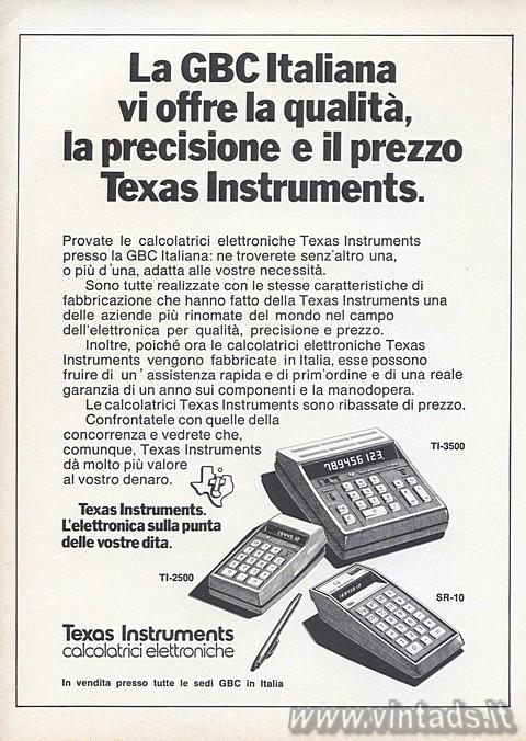 Qualità, precisione, prezzo Texas Instruments