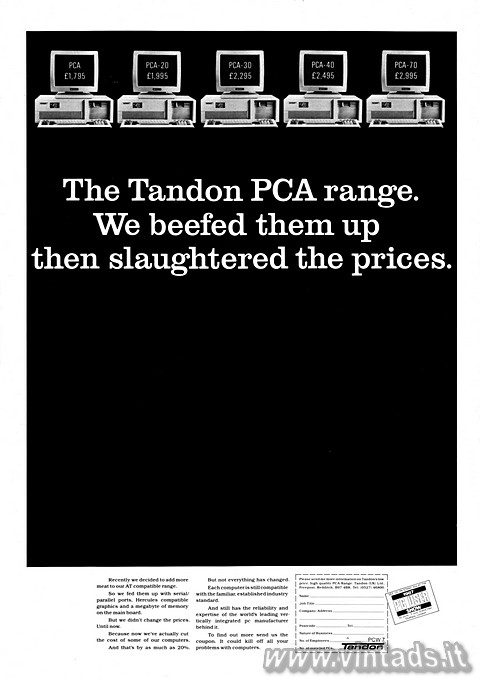 The Tandon PCA range.