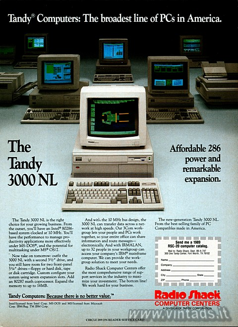 Tandy® Computers: The broadest line of PCs in Amer