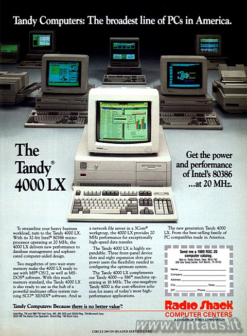 Tandy Computers: The broadest line of PCs in Ameri