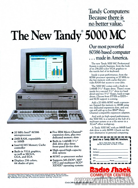 Tandy Computers: Because there is no better value.™