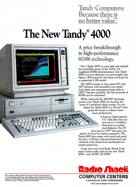 Tandy Computers: Because there is no better value.