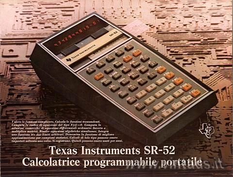 SR-52 calcolatrice programmabile portatile