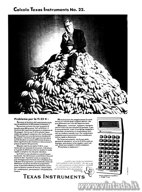 Calcolo Texas Instruments No. 22