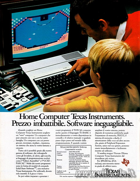 Home Computer Texas Instruments.