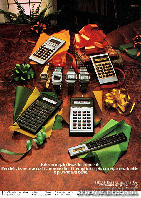 Fate un regalo Texas Instruments.