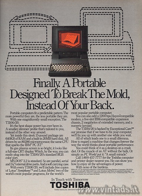 Finally. A portable designed to break the mold, instead of your back.