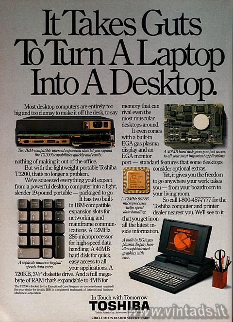 It takes guts to turn a laptop into a desktop.