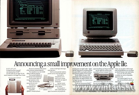 Announcing a small improvement on the Apple IIe.