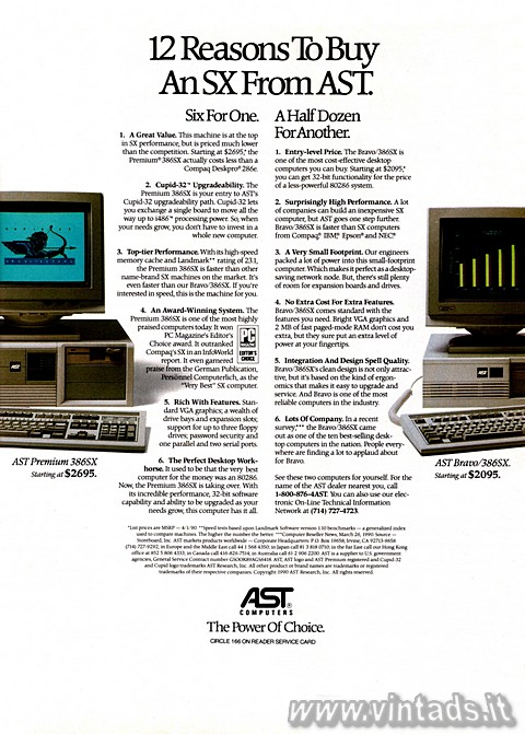 12 Reasons To Buy An SX From AST.