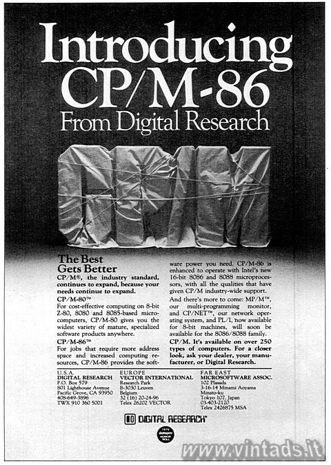 Introducing CP/M-86 From Digital Research