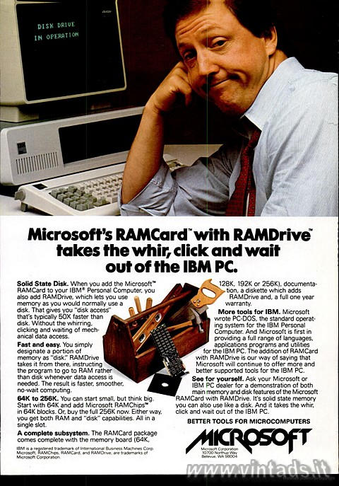 Microsoft's RAMCard with RAMDrive takes the wh