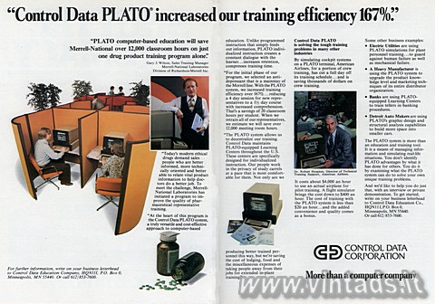 """Control Data PLATO increased our training efficen"