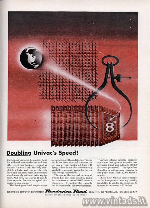 Doubling Univac's Speed!