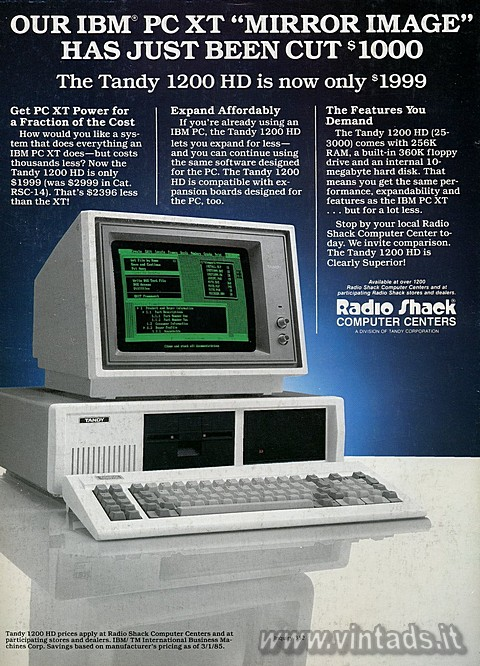 "OUR IBM® PC XT ""MIRROR IMAGE"" HAS JUST BEEN CUT $1000
